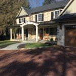 residential masonry stone walkway