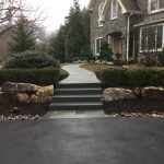 natural stone walkway and steps