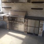 outdoor masonry stonework kitchen
