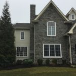 exterior stone restoration on a house
