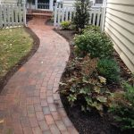 outdoor brick path